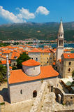 Old town Budva in Montenegro Royalty Free Stock Images