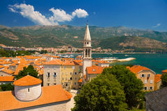 Old town of Budva in Montenegro Stock Photography