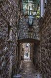 Budva Old Town. Old Town of Budva coastal city in Montenegro Royalty Free Stock Image