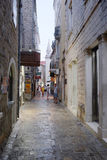 Old town of Budva - the famoust touristic places in Montenegro Royalty Free Stock Image