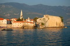 The Old Town of Budva, Montenegro Stock Image