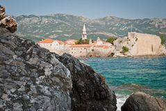 The old town of Budva. Montenegro Stock Image