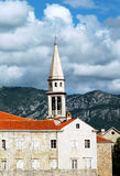 Old town Budva, Montenegro. Old town Budva in Montenegro by the Adriatic Sea stock images