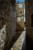 Old Town Budva in Montenegro. Ancient Fortress the in Venetian S Royalty Free Stock Photo