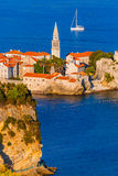 Old Town in Budva Montenegro. Architecture travel background Stock Photos