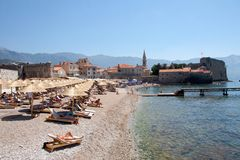 The old town of Budva in Montenegro Stock Images