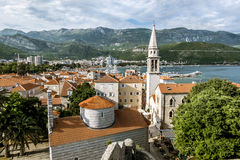Old town of Budva in Montenegro in sunny day Royalty Free Stock Photos
