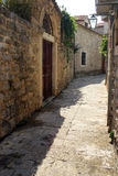 The old town of Budva streets Royalty Free Stock Photography