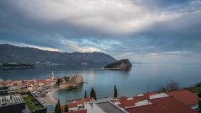Old Town in Budva sunset timelapse