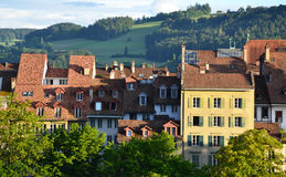 Old town buildings in Bern. Royalty Free Stock Image