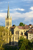 Old town buildings in Bern. Stock Images