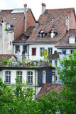 Old town buildings in Bern. Stock Photos