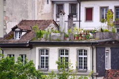 Old town buildings in Bern. Royalty Free Stock Photos