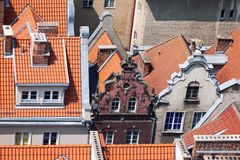 Old town buildings in the centre of Gdansk Poland Royalty Free Stock Photos