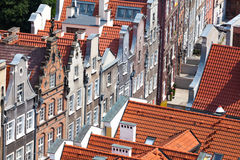 Old town buildings in the centre of Gdansk Poland Royalty Free Stock Image