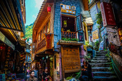 Old town buildings in Fenghuang (Phoenix), Hunan, China Royalty Free Stock Photos