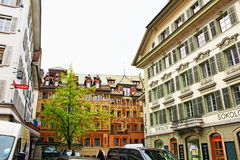 Old town buildings Lucerne Switzerland Royalty Free Stock Photos