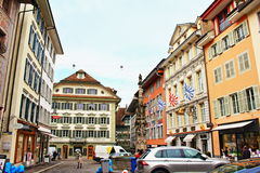 Old town buildings Lucerne Switzerland Stock Photos