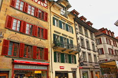 Old town buildings Lucerne Switzerland Stock Photo