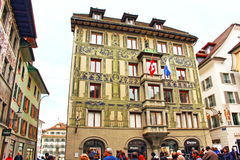 Old town buildings Lucerne Switzerland Royalty Free Stock Photography
