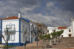 Old town and buildings of Portugal. View on some nice painted buildings located in portugal closse to Lisboa Stock Image