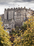 Old Town buildings from Princes Street Royalty Free Stock Photography