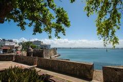 Old Town Buildings, San Juan, PR. Early morning views of old buildings in Old Town, San Juan, Puerto Rico royalty free stock photo