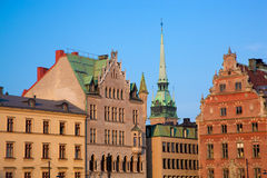Old town buildings in Stockholm, Sweden Stock Photo
