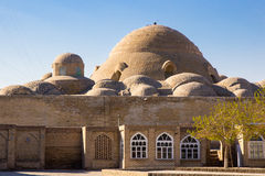 Old town of Bukhara, Uzbekistan, Silk Road, March 2016. Domes of stalls in Bukhara, bazaar, market, old town of Bukhara, Uzbekistan, Silk Road, March 2016 stock photos