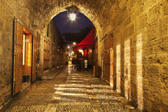 Old Town in Byblos stock image