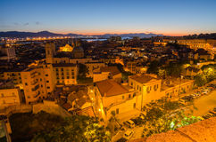 Old Town of Cagliari (Capital of Sardinia Island,  Stock Images