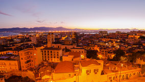 Old Town of Cagliari (Capital of Sardinia, Italy) in the sunset Stock Images