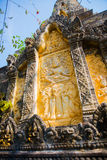 Old town in Cambodia. A fragment of decoration Stock Photography