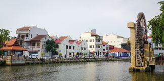 Old Town with the canal in Malacca City, Malaysia Royalty Free Stock Photography
