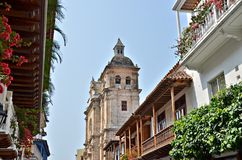 Old Town Cartagena Stock Photo