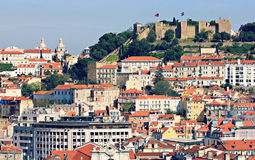 Old Town and Castle of Lisbon, Portugal Royalty Free Stock Images