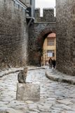 Old town cat Plovdiv Royalty Free Stock Photography
