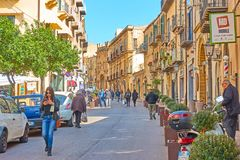 Old Town of Cefalu stock photo