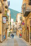 Old Town of Cefalu royalty free stock photos