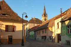 City of Sibiu in Romania Royalty Free Stock Photos