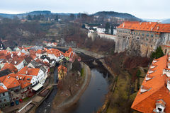 The old Town of Cesky Krumlov, Czech Republic Stock Images