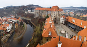The old Town of Cesky Krumlov, Czech Republic Royalty Free Stock Photos
