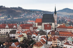 The old Town of Cesky Krumlov, Czech Republic Stock Photography