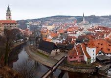 The old Town of Cesky Krumlov, Czech Republic Royalty Free Stock Photos