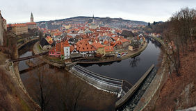 The old Town of Cesky Krumlov, Czech Republic Royalty Free Stock Photography