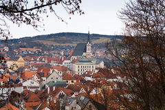 The old Town of Cesky Krumlov, Czech Republic Royalty Free Stock Images