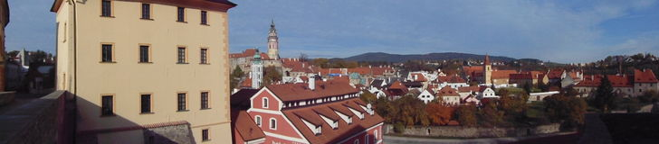 Old town of Cesky Krumlov Royalty Free Stock Images
