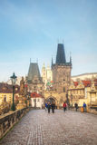 The Old Town with Charles bridge in Prague Royalty Free Stock Photos