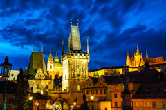 The Old Town with Charles bridge in Prague Royalty Free Stock Images