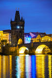 The Old Town Charles bridge tower in Prague Stock Images